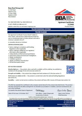 BBA certifikat